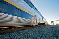 Amtrak Train Blue Sky in Berkeley