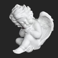 Amur. Cupid figure. Vintage. Vintage Cupid. Boy angel. Valentine's Day. Eros. Baby. Romantic figurine. White statue. Interior statue. Sleeping angel. Vintage postcard. Vintage Cupid. White angel Wings