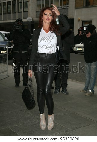 Amy Childs arriving for the Kandee Shoes collection launch party, The Sanderson, London.  08/02/2012 Picture by: Alexandra Glen / Featureflash