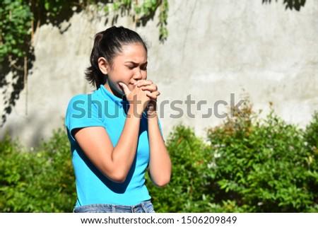 An A Praying Youthful Female #1506209849