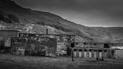 An abandoned factory in the extremely rural Strandir region, Northwest Iceland.