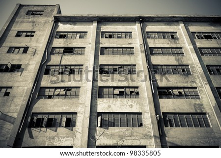 An abandoned factory premises