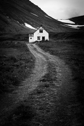 An abandoned farm in the Westfjords of Iceland.