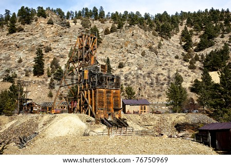 An abandoned gold mine weathers the climates of western life.