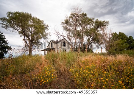 An abandoned home in southern Nebraska