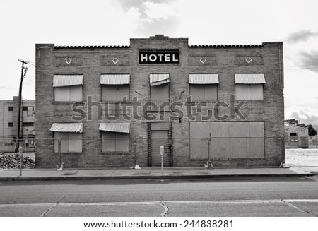 An abandoned hotel in the outskirts of Phoenix, Arizona.