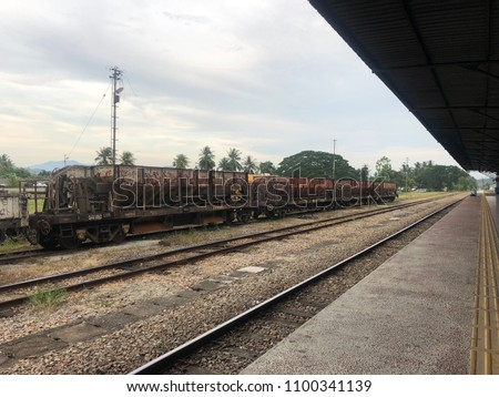 An abandoned train Stok fotoğraf ©