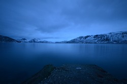 An absolutely silent and lonely moment in northern Norway