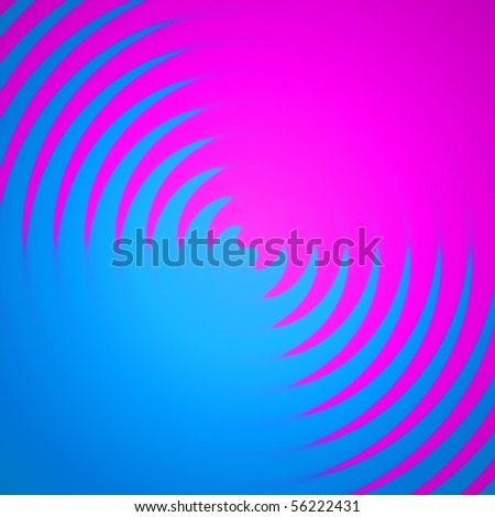 An abstract backdrop with pink and blue colors spiraling together. - stock photo