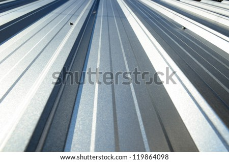 An abstract background Corrugated sheet perspective and geometry
