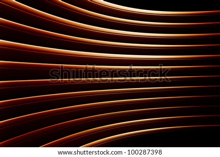 An abstract background  metal shapes reflecting light.