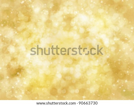 An abstract background of gold  and brown glitter and light bokeh. Brushes available at obsidiandawn.com