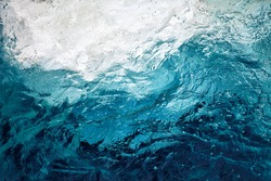 An abstract background of seawater flow under light exposure