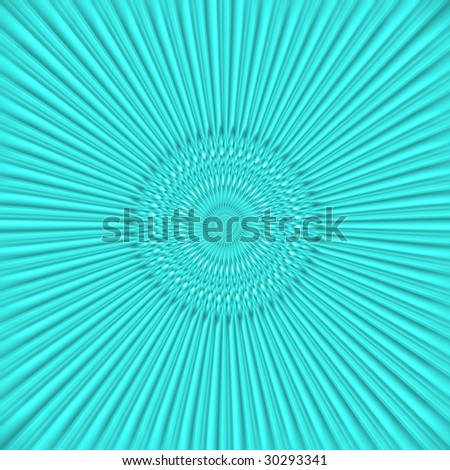 An abstract background. Turquoise rays going out of the circle center