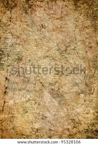 An abstract background with paper and fiber textures as well as other natural textures.