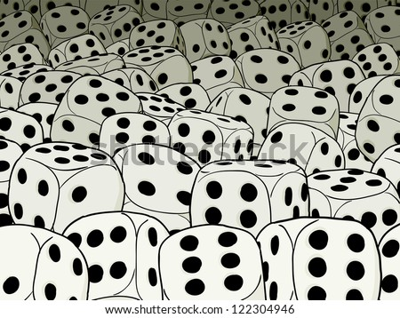 An abstract composition on gambling theme - dices