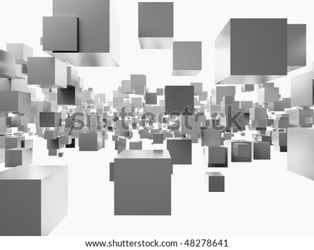 An abstract 3d background from cubes