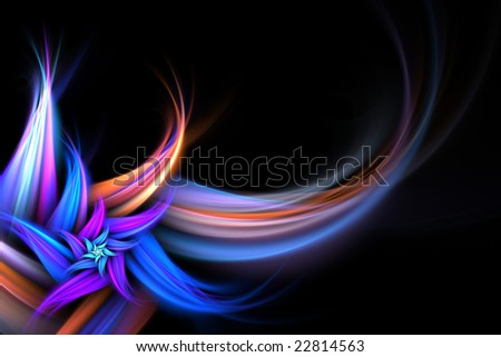 An abstract fractal flower background with plenty of copyspace - add style to any design.