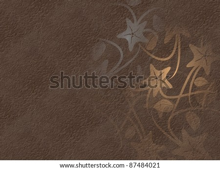 An abstract illustration of flowers with a fabric texture in the background / Flowers texture background
