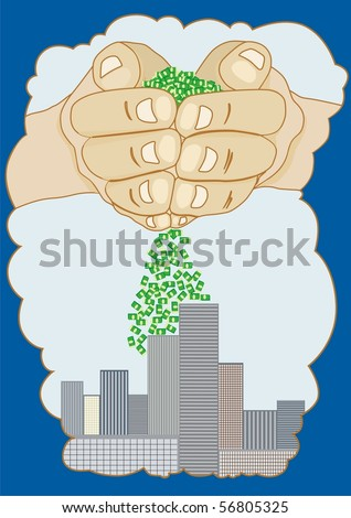 An abstract image insertion finance the construction, real estate.