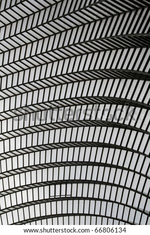 An Abstract Image of the Ceiling of a Modern Building