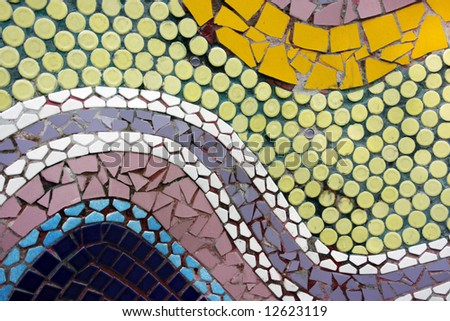 An abstract of different color and sizes mosaic design - stock photo