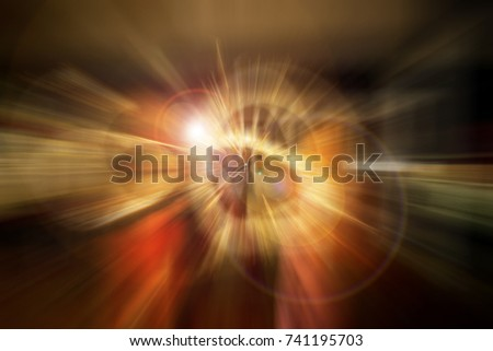 Stock Photo An abstract of glowing light circle from center outwards.