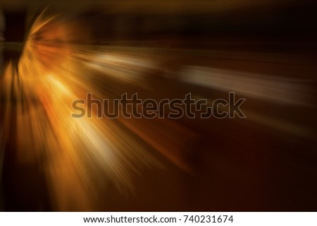 Stock Photo An abstract of glowing light motion bursting from the shape of human face.