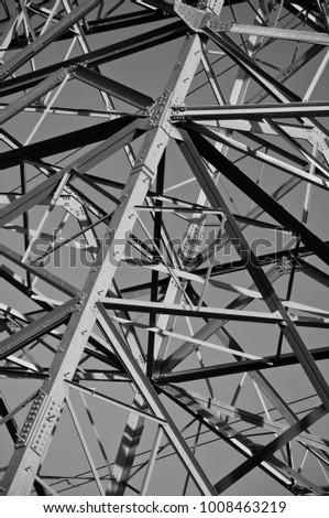 An abstract photograph of an electricity pylon - Shutterstock ID 1008463219