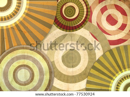 An abstract retro background