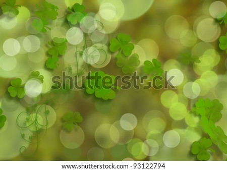 An abstract shamrock background for St Patrick's Day.