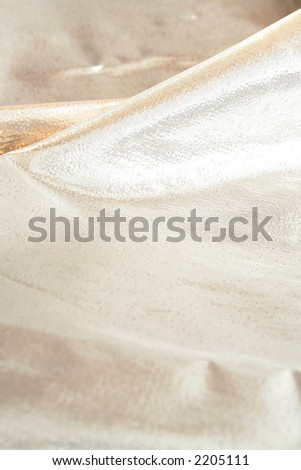 An abstract silver cloth background