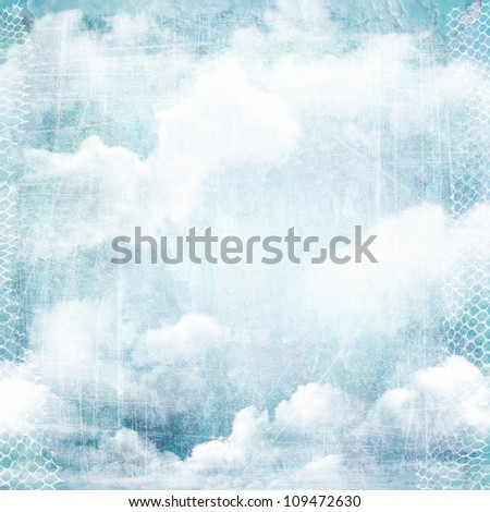 An abstract vintage texture background with clouds. Page to design photo books, album.