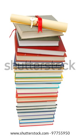 An achievement degree in school - stock photo