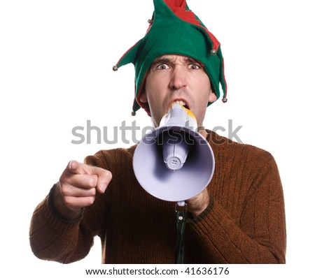 stock photo an adult elf is hollering into a megaphone and pointing with his finger 41636176 ... (ACE) is the primary provider of adult education classes in Leon County.