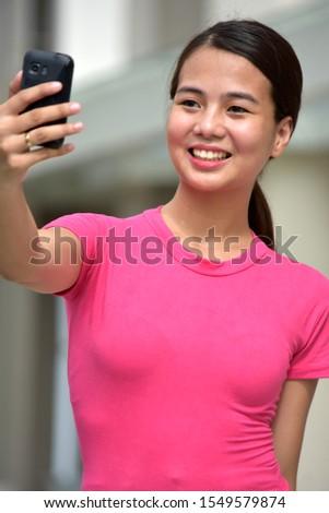 An Adult Filipina  Female Selfy