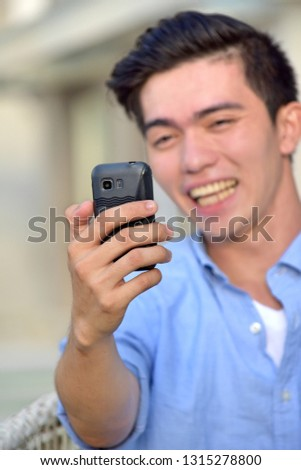 An Adult Male Selfy