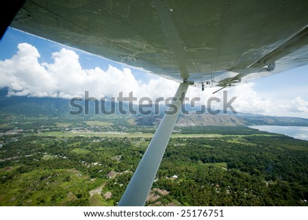 An aerial photo taken from a small airplane - Indonesia