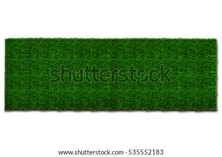 An aerial view of a large patch of some freshly cut, healthy, green grass. Image is ready to be tiled to create a much larger image or higher resolution background. on  with clipping path.