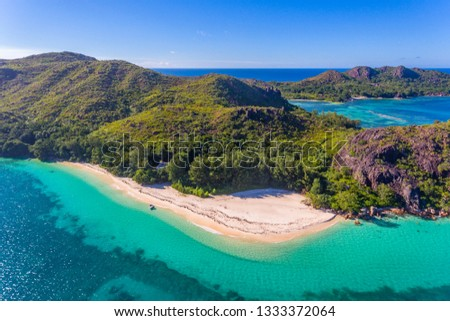An aerial view on Curieuse Island, Seychelles Stock photo ©