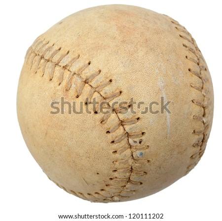 An aged baseball ball
