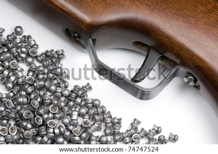 An Air Rifle trigger and a selection of pellets