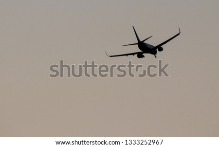 An airplane flying in the sky  #1333252967