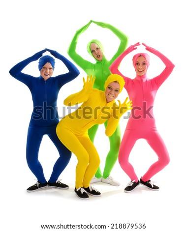 An Alien Strange Theatrical Company of Teen Dancers in Condom Recital Costumes
