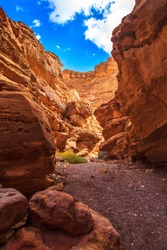 An amazing place in Israel which is called the Red canyon. Totally worth visiting because of its stunning stony structure