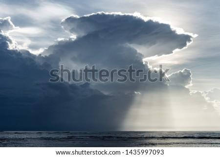 An amazing sunrise at 5 am in Punta Mona, Manzanillo Foto stock ©