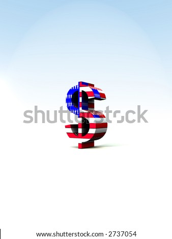An American Dollar sign with the US flag on it.