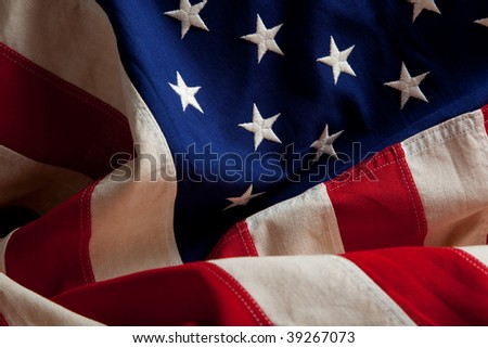 An american flag as a background