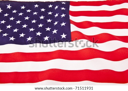 waving american flag clip art. stock photo : an American flag