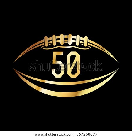 Shutterstock An american football emblem with the number 50.
